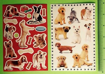 American Greetings Dog Sticker Sheet Lot~Pets~Puppy~Pug~Lab~Terrier~Dachshund