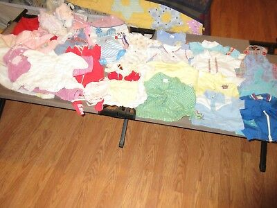 VTG LOT OF 40 BABY & TODDLER CLOTHING ITEMS most 1960's- 80's boys, girls, uni