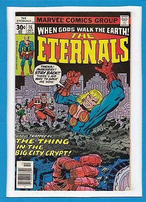 """The Eternals #16_Oct 1977_Vf_Hulk_""""thing In The Big City Crypt""""_Jack Kirby!"""