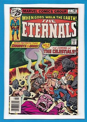 """The Eternals #2_August 1976_Fine+_""""the Coming Of The Celestials""""_Jack Kirby!"""