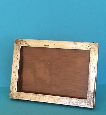 Antique Sterling Silver & Wood Photo Frame Marked Chester 1916