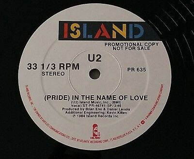 "U2 Rare Pride US Only Double Sided 12""Promo.PR 635"