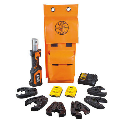 Klein Tools BAT20-7T14 Battery-Operated Cable Cutter And Crimper Kit