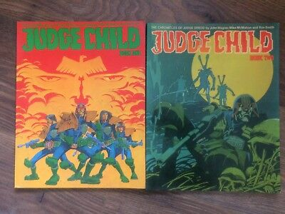 Judge Dredd The Judge Child Book 1, Book 2, Titan Press, Wagner, Smith, McMahon