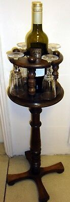 collector's  RARE & UNUSUAL combination wine & glass rack stand . arts & crafts?