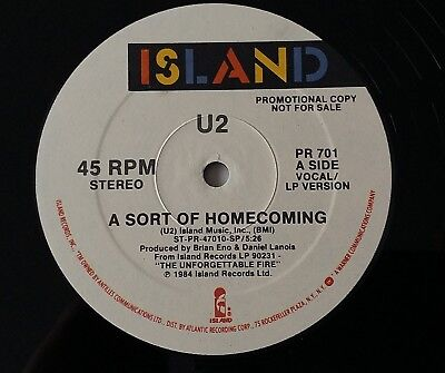 "U2 Rare A Sort Of Homecoming.US Double Sided 12""Promo PR 701"