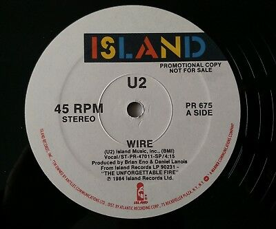 "U2 Wire Rare US Double Sided 12"" Promo,PR 675."