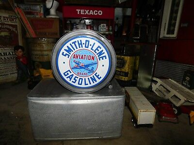 Antique 1927  Rocker Oil Can Smith-O-Lene Aviation Brand Gasoline Can Petroliana