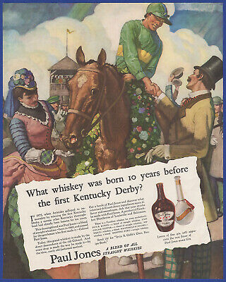 Vintage 1935 PAUL JONES Straight Whiskey Alcohol Liquor Ephemera Print Ad 1930's