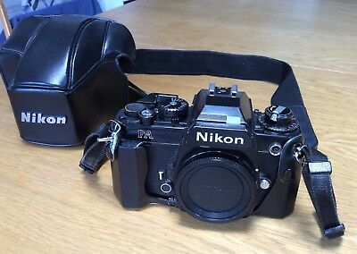 Nikon FA 35mm film camera body And Case. Pre-owned. Good Working Condition