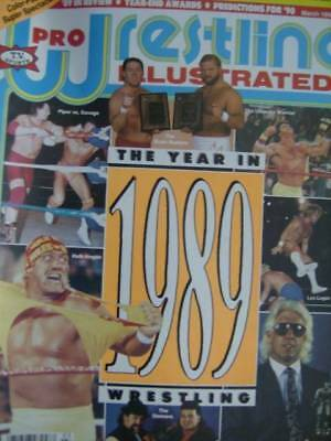 Pro Wrestling Illustrated Magazine March 1990- 1989 in Review-Piper vs Savage/Br