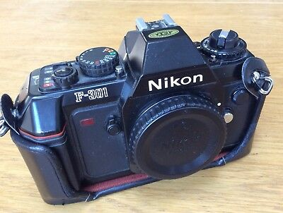 Nikon F301 35mm SLR Film Camera Body Only And Cf-36 Case