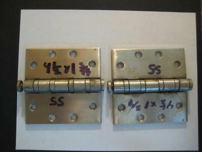 """HAGER STAINLESS STEEL 4-1/2"""" x 4-1/2"""" SS Hinge HEAVY DUTY 4 BALL BEARINGS"""