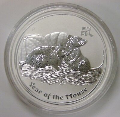 Australia - 2008 - 1 oz. .999 Silver Dollar - Lunar Year of the Mouse - in case