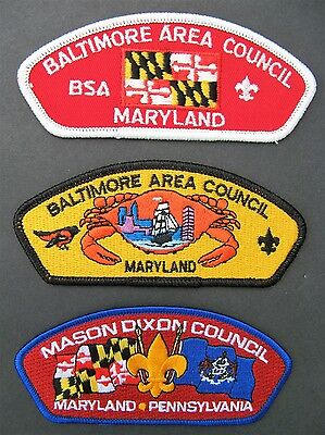 Boy Scouts Of America 3  Maryland Pennsylvania Bsa Csp Council Shoulder Patches