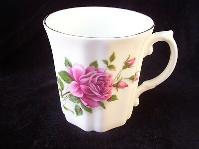 Royal Grafton Pink Roses Coffee Cup Mug England Fine Bone China Vintage