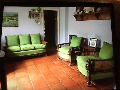 bergere suite, 3 seater settee and 2 arm chairs