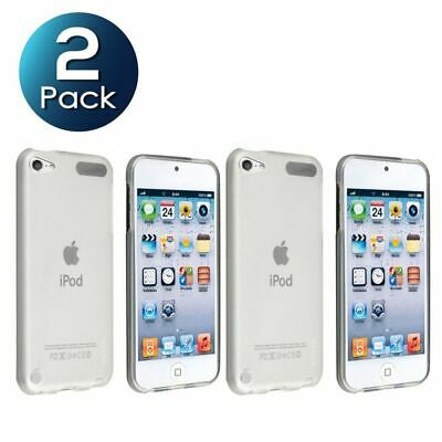 2 Pack TPU Rubber Skin Case For Apple iPod touch 5th/6th Generation Clear White