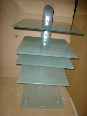 Audio Innovation HI-FI EQUIPMENT GLASS STAND-5 Adjustable Shelves-High Quality.