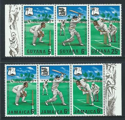 1968 GUYANA & JAMAICA Cricket Sets MNH