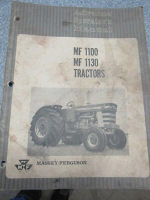 Massey-Ferguson MF 1100 1130 Tractor Advance Operator's Manual