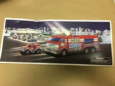 2005 Hess Emergency Truck With Rescue Vehicle-New 729071020051