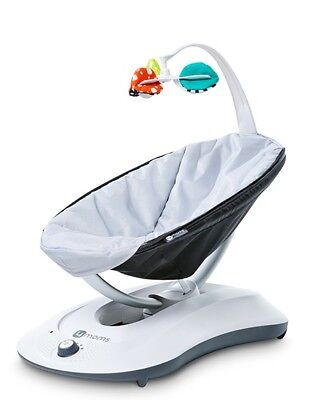 4MOMS RockaRoo Infant Seat, 5 speeds, MP3 compatible, Classic Grey