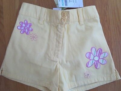 Gymboree Leapin Lily Pads 2003 vintage yellow shorts size 6 NEW