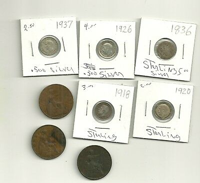 UK Silver & Bronze Coin Lot #1