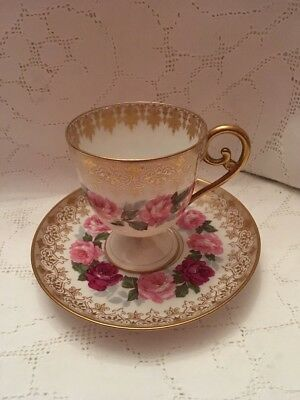 Antique Limoges Coffee Cup And Saucer - Henry Begue