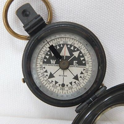 ANTIQUE THOMAS ARMSTRONG 'RGS' PRISMATIC SINGER'S POCKET MARCHING COMPASS c.1880