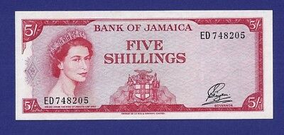 Superbe 5 Shillings 1960 Banknote From Jamaica.