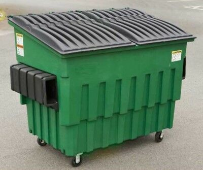 Toter 3 Yard Front Load Dumpster Gray Great Condition Ultra Light and Quiet