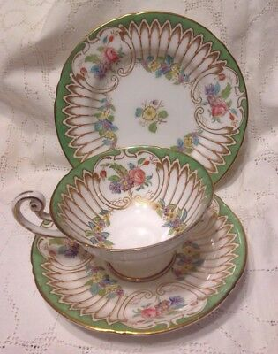 ROYAL WORCESTER  Hand Painted Trio Dated 1935