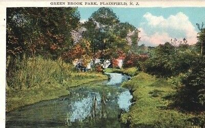 Green Brook Park Plainfield New Jersey NJ Somerset County postcard 1928 color