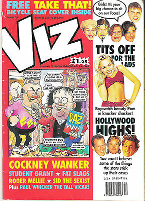 Viz Comic issue 70 Feb/Mar 1995 Student Grant Roger Mellie Paul Wicker etc