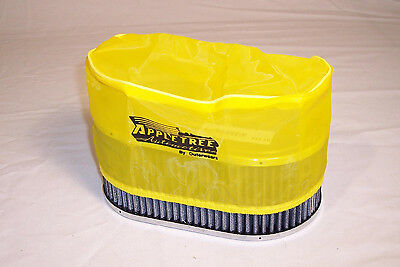 """Premium OUTERWEAR PRE-FILTER, 5.5"""" x 9"""" Oval, 4"""" Tall, Yellow Dunebuggy VW"""