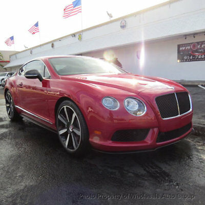 2014 Bentley Continental GT 2dr Coupe CARFAX CERTIFIED . FULLY LOADED. MINT CONDITION. VIEW IMAGES. CALL 954-744-1177