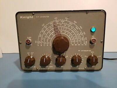Vintage Knight Kit RF Signal Generator Allied Radio Powers on