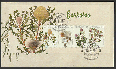 Australia 2018 : Banksias - First Day Cover with Minisheet  Mint Condition