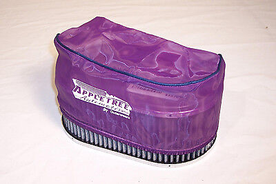 """Premium OUTERWEAR PRE-FILTER, 4.5"""" x 7"""" Oval, 3.5"""" Tall, Purple Dunebuggy VW"""