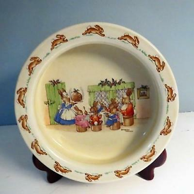 "Rare Early (1930-40) Heavy Royal Doulton Bunnykins 7.5"" Porridge Bowl / Dish"