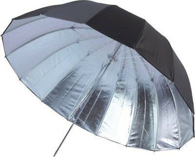 "63"" Photo Studio Umbrella 16 Panels Fiberglass Black/Silver Photography Lighting"