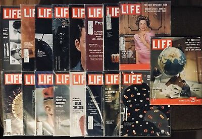 Life Magazines Lot of 17  *L20 Astronauts / Liz Taylor 1957, 1959, 1966 & 1967