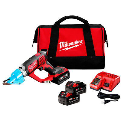 Milwaukee 2636-22 M18 18-Volt 14 Gauge Double Cut Shear w/ Batteries