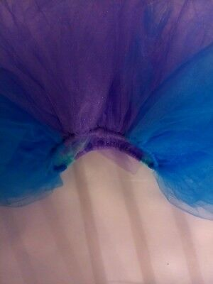 Girl Toddler tutu multicolor purple and blue sheer 12-24 months