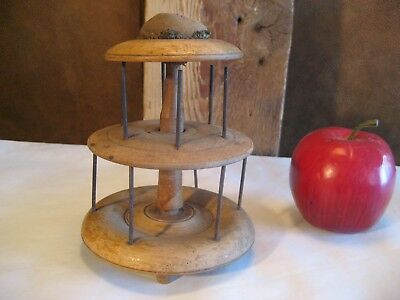 Early Antique 2 Tier Spool Thread Holder/dispenser-Possibly Shaker