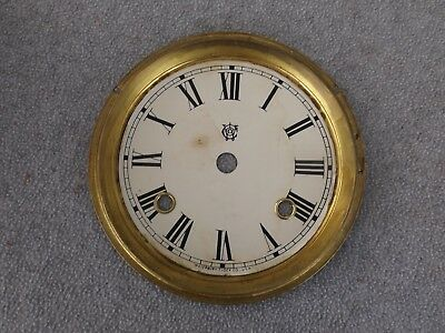 Old 1800S Waterbury Gingerbread Kitchen Parlor Lg Shelf Mantle Dial Clock Parts