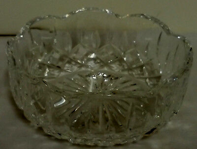 """Stuart, Vintage, Small 4""""   Bowl,scallop Edged For Bon Bons/ Sweets/ Dips/ Nuts"""