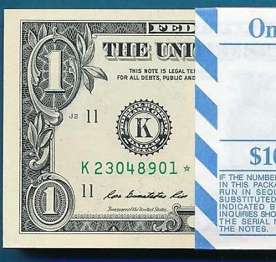 $1.00 2013 Dallas District Star Pack 100 Star  Consecutive Frn Notes
